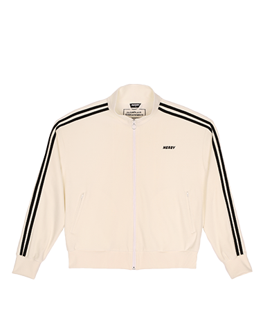 Velour Track Top White