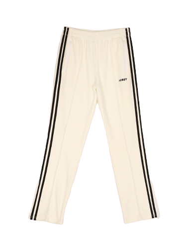 Velour Track Pants White