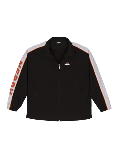 Line Windbreak Track Top Black