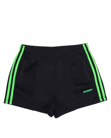 [WOMAN] NY Track Shorts Black / Green