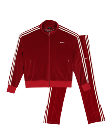 Velour Track SET Burgundy