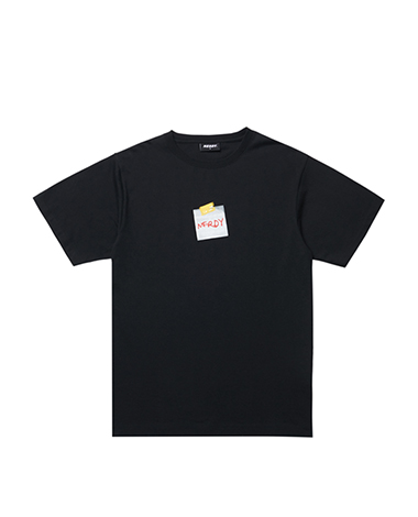 Post It T-shirt Black