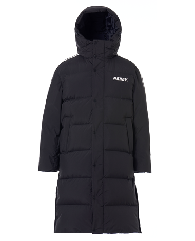 NY Track Long Down Jacket Black