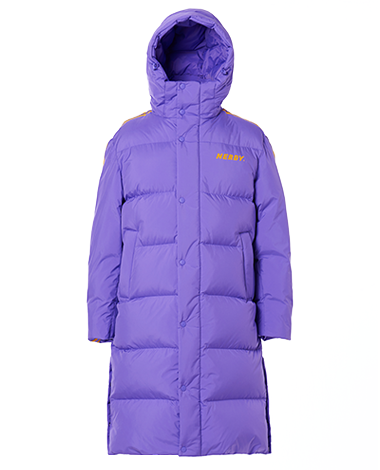 NY Track Long Down Jacket Purple