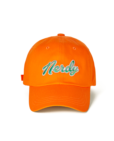 Washed Multi Color Embroidery Ball Cap Orange