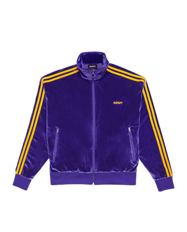 Velvet Track Top Purple
