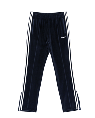 Velour Track Pants Navy