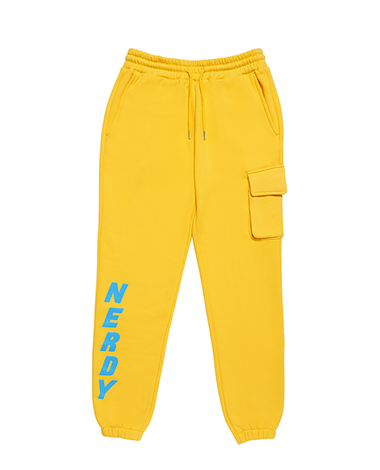 Brushed Jogger Pants Yellow