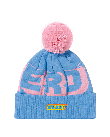 Multi Color Logo Bell Beanie Skyblue