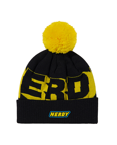 Multi Color Logo Bell Beanie Black