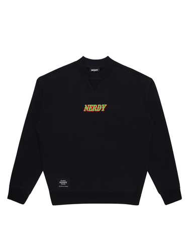 Brushed High-neck Sweatshirt Black
