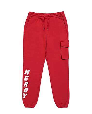 Brushed Jogger Pants Red