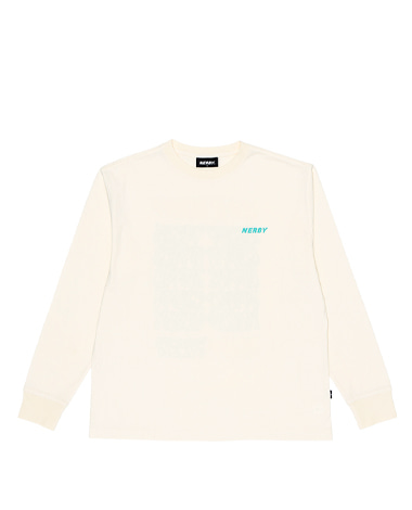Typo Long Sleeve T-shirt Cream