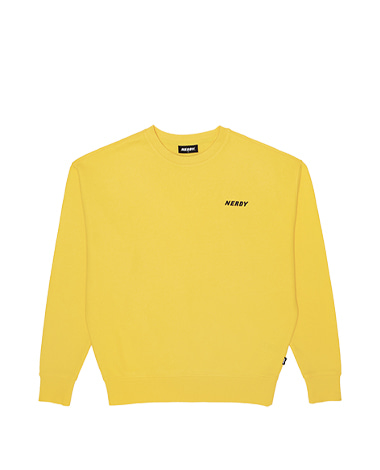 Basic Logo Sweatshirt Yellow