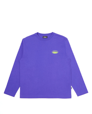 Oval Logo Long Sleeve T-shirt Purple