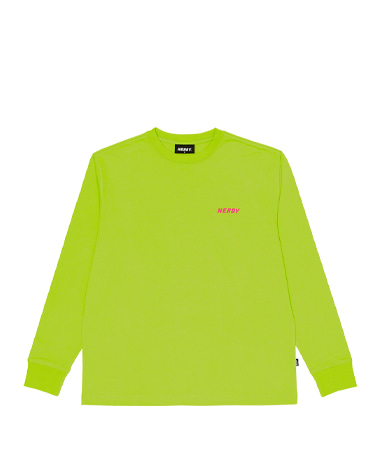 Typo Long Sleeve T-shirt Lime