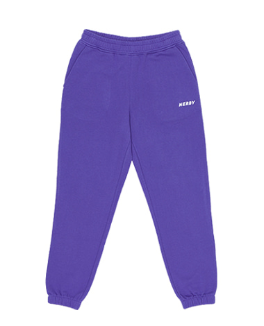 Basic Logo Sweatpants Purple