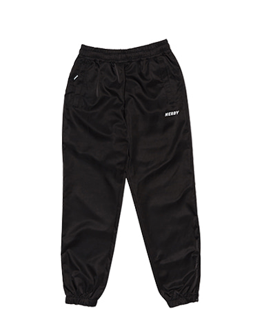 Basic Woven Track Pants Black