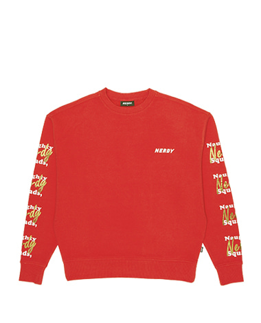 Glitter Print Sweatshirt Red