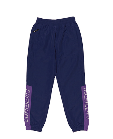 Color Block Woven Track Pants Navy