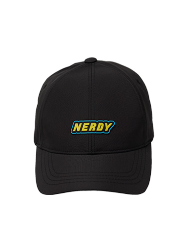 Rubber Logo Ball Cap Black