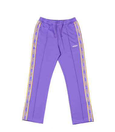 Logo Tape Track Pants Purple