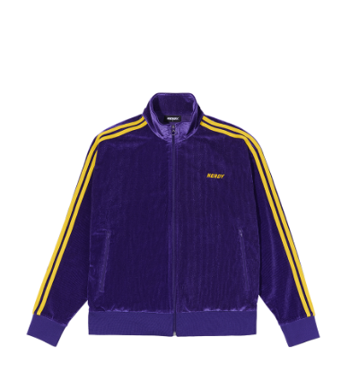 Corduroy Velvet Track Top Purple