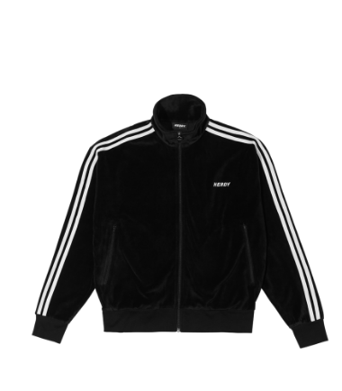 Velour Track Top Black