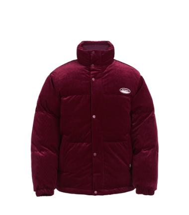 Corduroy Velvet Down Jacket Burgundy