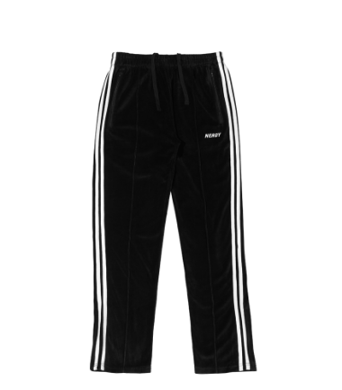 Velour Track Pants Black