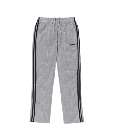 Velour Track Pants Gray