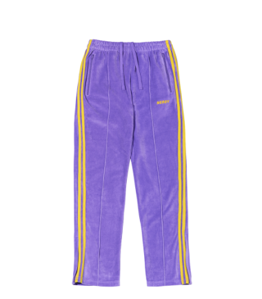 Velour Track Pants Purple